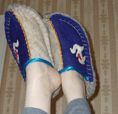 Kazakh slippers